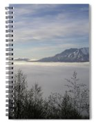 St Helens Above Clouds Spiral Notebook