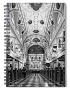 St. Louis Cathedral Monochrome Spiral Notebook