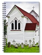 St. Luke's Church And Cemetery In Placentia Spiral Notebook