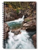 St. Mary Falls Glacier National Park Spiral Notebook
