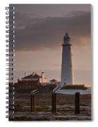 St Marys Lighthouse After Sunrise Spiral Notebook
