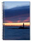 St Marys Lighthouse Sunrise Spiral Notebook