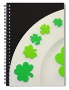 St. Patrick's Day Plate Spiral Notebook