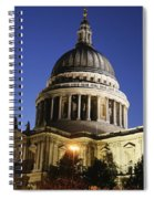 St Pauls Cathedral At Dusk, Exterior Spiral Notebook