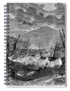 St. Thomas: Hurricane, 1867 Spiral Notebook