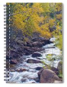 St Vrain Canyon And River Autumn Season Boulder County Colorado Spiral Notebook