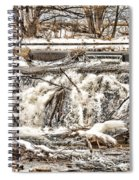 St Vrain River Waterfall   Spiral Notebook