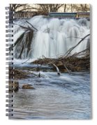 St Vrain River Waterfall Slow Flow Spiral Notebook