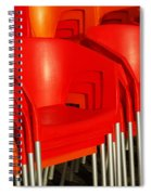 Stacked Chairs Spiral Notebook
