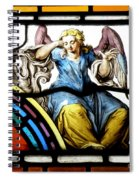 Stained Glass Angel Spiral Notebook