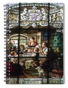 Stained Glass Family Giving Thanks Spiral Notebook