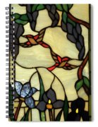 Stained Glass Humming Bird Vertical Window Spiral Notebook
