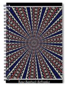 Stained Glass Kaleidoscope 49 Spiral Notebook