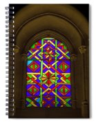 Stained Glass Window In Mezquita Spiral Notebook