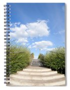 Stairs To The Big Blue Sky Spiral Notebook
