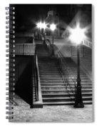 Stairway To Montmartre At Night Spiral Notebook