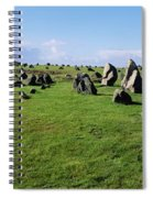 Standing Stones On A Landscape Spiral Notebook