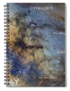 Star Map Version The Milky Way And Constellations Scorpius Sagittarius And The Star Antares Spiral Notebook