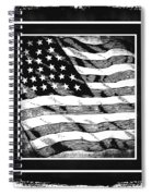 Star Spangled Banner Bw Spiral Notebook