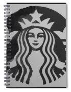 Starbuck The Mermaid In Black And White Spiral Notebook