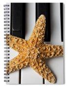 Starfish Piano Spiral Notebook