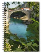 Stari Most Or Old Town Bridge Over The Spiral Notebook