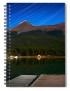 Starry Night Of Mountains And Lake Spiral Notebook