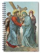 Station Iv Jesus Carrying The Cross Meets His Most Afflicted Mother Spiral Notebook