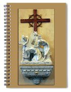 Station Of The Cross 03 Spiral Notebook