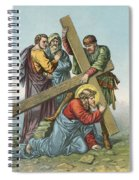 Station Vii Jesus Falls Under The Cross The Second Time Spiral Notebook