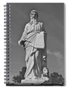 Statue 01 Black And White Spiral Notebook