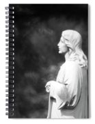 Statue 06 Black And White Spiral Notebook