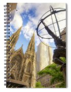 Statue And Spires Spiral Notebook