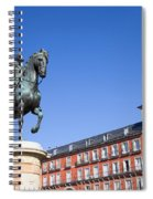 Statue Of King Philip IIi At Plaza Mayor Spiral Notebook