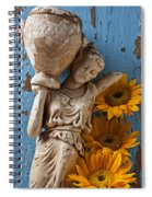 Statue Of Woman With Sunflowers Spiral Notebook