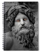 Statue With Eyes Spiral Notebook