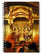Statues Of Ram And Lakshman And Sita At The Iskcon Temple In Delhi Spiral Notebook