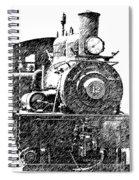 steam Engine pencil sketch Spiral Notebook