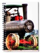 Steam Engine Tractor  Spiral Notebook