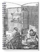 Steam Washer, 1872 Spiral Notebook