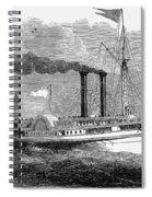 Steamboat, 1850 Spiral Notebook