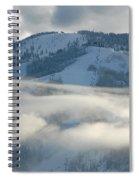 Steamboat Ski Area In Clouds Spiral Notebook