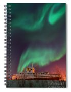 Steamboat Under Northern Lights Spiral Notebook
