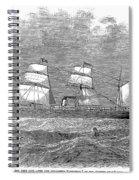 Steamship: Republic Spiral Notebook