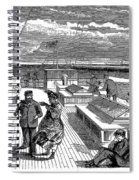 Steamships: Deck, 1870 Spiral Notebook