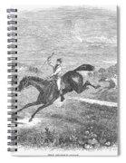 Steeplechase, C1880 Spiral Notebook