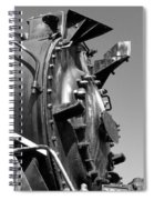 Steme Engine Front Black And White Spiral Notebook