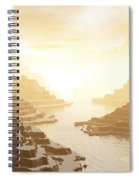 Misted Mountain River Passage Spiral Notebook