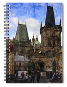 Stepping Off The Bridge Spiral Notebook