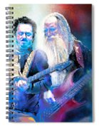 Steve Lukather And Leland Sklar From Toto 02 Spiral Notebook